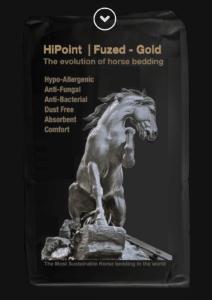 HiPoint Fuzed Gold horse bedding shavings